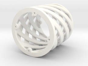 Spiral Support Piece in White Processed Versatile Plastic