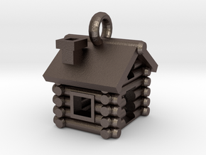 Cabin Charm in Polished Bronzed Silver Steel