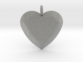 Heart Ornament in Metallic Plastic