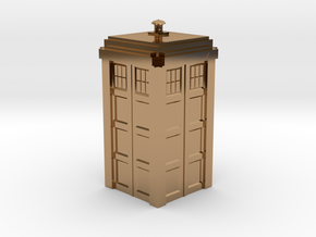 Dr. Who Tardis in Polished Brass
