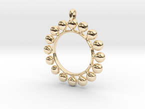GOLD Alcemy Symbol Jewelry Pendant in 14k Gold Plated Brass