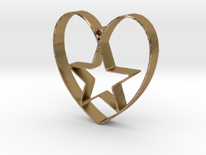 Heartbound star in Polished Gold Steel