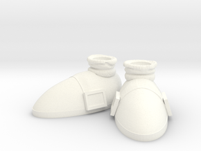 Sonic's Shoes in White Processed Versatile Plastic