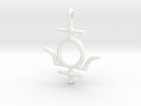MERCURY Symbol Jewelry Pendant in White Processed Versatile Plastic