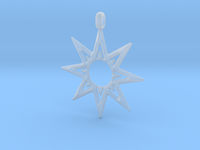 STAR OF VENUS Jewelry Symbol Pendant. in Smooth Fine Detail Plastic