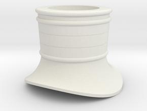 Skorstensfod Litra-R H0-STL in White Natural Versatile Plastic