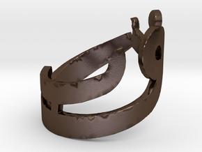 Ring Noor in Polished Bronze Steel