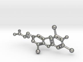 Levothyroxine (L-thyroxine, T4) Molecule in Natural Silver