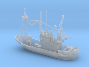 Fishing boat 01. Z Scale (1:220) in Smooth Fine Detail Plastic
