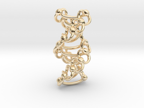 DNA Helixa - 25mm in 14K Yellow Gold