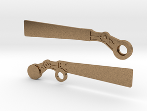 S Scale Semaphore Blades   in Natural Brass
