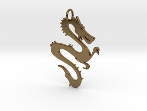 Dragon Pendant & Charm in Polished Bronze