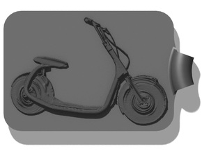 Scooter 2 Key Fob in Black Strong & Flexible