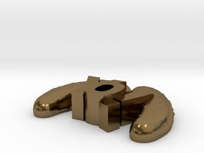 YoPicklesTiny in Polished Bronze
