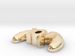 YoPicklesTiny in 14k Gold Plated Brass
