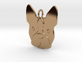 Boston Terrier Charm in Polished Brass