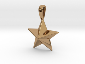 Star Pendant Necklace in Polished Brass