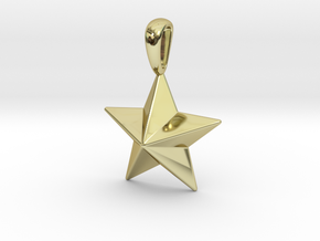 Star Pendant Necklace in 18k Gold Plated