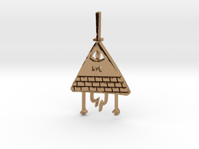 Bill Cipher Pendant/Keychain in Polished Brass