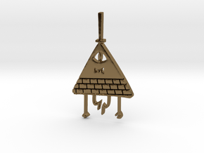 Bill Cipher Pendant/Keychain in Polished Bronze
