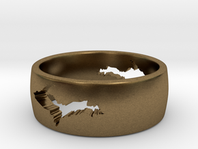 Upper Peninsula Comfort-Fit Ring  in Natural Bronze: 5 / 49