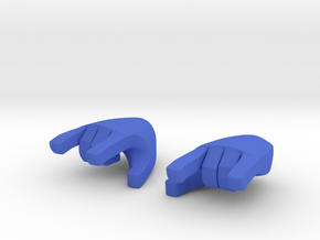 Hand type 3 in Blue Processed Versatile Plastic