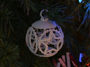Gear Bauble in White Natural Versatile Plastic