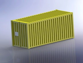Container 20ft 1/350 in Smooth Fine Detail Plastic