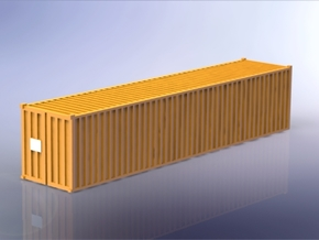 Container 40ft Standard 1/350 in Smooth Fine Detail Plastic
