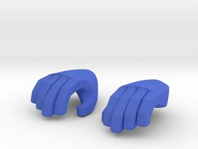 Hand type 1 in Blue Processed Versatile Plastic
