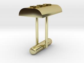 Cufflink Stars in 18k Gold Plated Brass