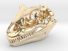 Allosaurus Skull in 14K Yellow Gold