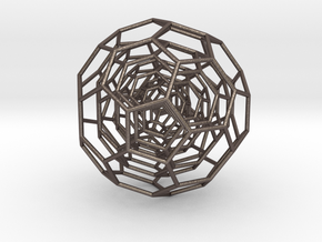 0381 4-Grid Truncated Icosahedron #All (11.2 cm) in Stainless Steel