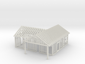 House Under Construction 1-87 HO Scale  in White Natural Versatile Plastic