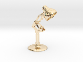 Pixar Lamp in 14k Gold Plated Brass