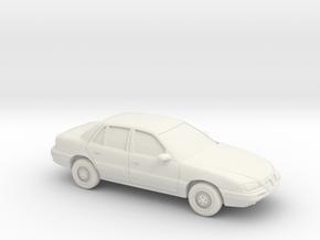 1/87 1992-95 Pontiac Grand Am in White Natural Versatile Plastic