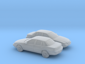 1/160 2X 1992-95 Pontiac Grand Am in Smooth Fine Detail Plastic