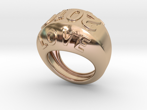 2016 Ring Of Peace 23 - Italian Size 23 in 14k Rose Gold Plated Brass
