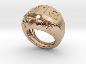 2016 Ring Of Peace 24 - Italian Size 24 in 14k Rose Gold Plated Brass