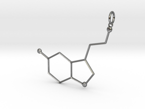 Serotonin Pendant in Polished Silver