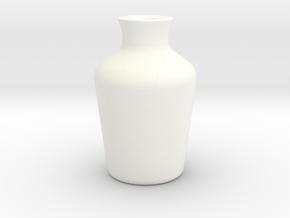 Vase 112513 in White Processed Versatile Plastic