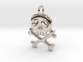 Space Captain Harlock | Pendant in Rhodium Plated Brass