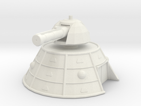 MG144-ZD08 Zirgnar Base Defence Turret in White Natural Versatile Plastic