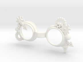 Steam punk Goggles:  YOSD 1/6 doll size in White Processed Versatile Plastic