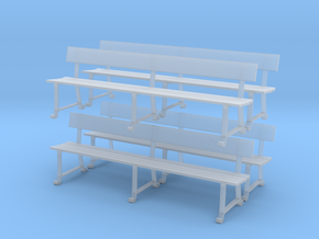Wrought Iron station bench (O scale) in Smoothest Fine Detail Plastic