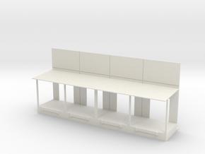 Docks Only (4) in White Natural Versatile Plastic