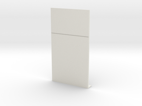 Blank Wall; Half in White Natural Versatile Plastic