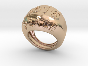 2016 Ring Of Peace 33 - Italian Size 33 in 14k Rose Gold Plated Brass