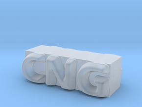 CNG Pendant in Smooth Fine Detail Plastic