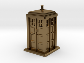 TT Gauge - Police Box in Polished Bronze